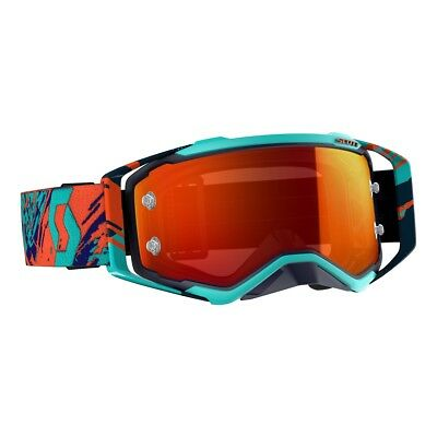 2019 SCOTT Prospect Motocross Goggles Blue/Orange Orange Chrome Lens