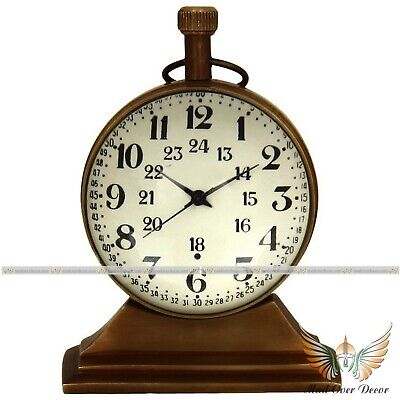 Vintage Look Solid Brass Antique Trophy Watch Nautical Table Decorative Clock