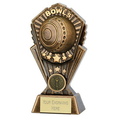 LAWN BOWLS 2 SIZES AVAILABLE ENGRAVED FREE GREEN BOWLS JACK BOWLING TROPHIES