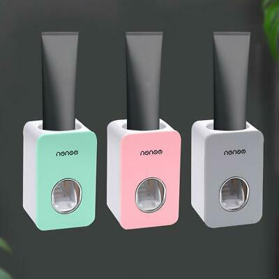 Automatic Toothpaste Dispenser Toothbrush Holder Bathroom Wall Hanging Mounted