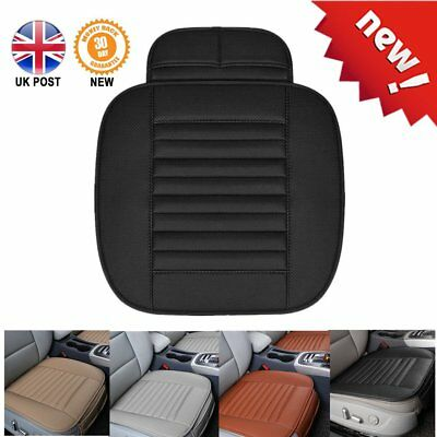 PU Leather Black Car Bamboo Charcoal Seat Soft Cushion Pad Protect Mat Cover LM