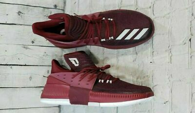 5e75e16339b NEW Adidas Dame 3 Maroon Basketball Shoes BY3195 Authentic MEN S SIZE 17