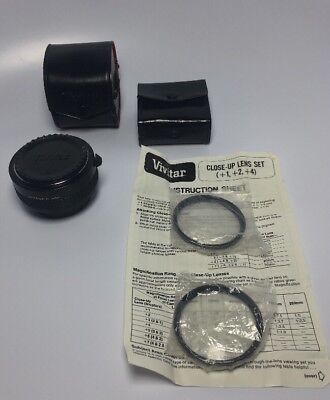 Vivitar MC Tele Converter 2X Manual Focus Case Close Up Lens  2 4 Japan Vintage