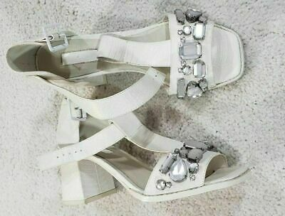 7a7896c671 TOPSHOP NICKELL EMBELLISHED Sandals White Women's Size 8.5 - $32.78 ...