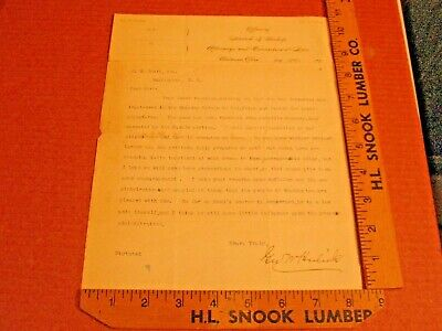 1897 Letter from  George Washington Hulick Soldier, Judge, U.S. Congress OHIO