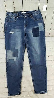 Distressed Rip Two-Tone Butt Lift Ankle Jeans Skinny Crop Jeans