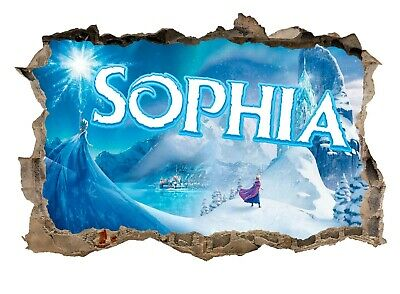 Personalised Any Name Frozen Wall Decal 3D Art Stickers Vinyl Room Bedroom 1