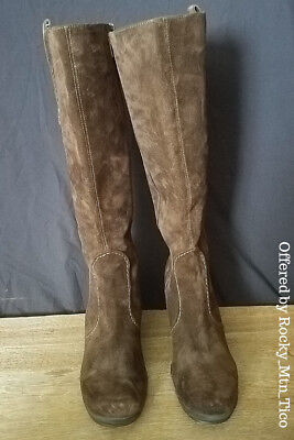 b866abbfd37 ASH KNEE HIGH Wedge Dark Brown Suede Boots Size 36.5 M -  58.00 ...