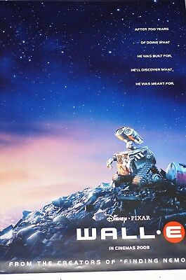 2008 Wall-E Movie Poster Double Sided 27x40 New