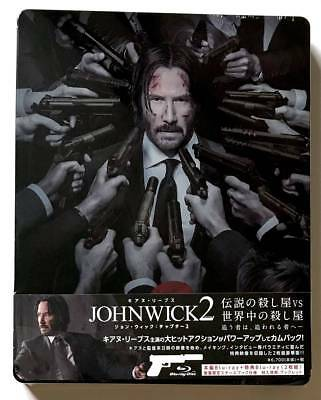 """John Wick: Chapter 2"" JAPAN Blu-ray STEELBOOK PCXP-50537 *SEALED"""
