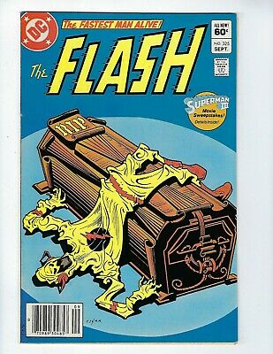 FLASH # 325 (REVERSE-FLASH DECEASED, Newsstand Variant, Sept 1983), VF+