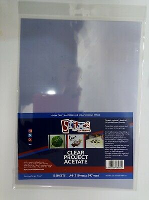 180 micron 210mm x 297mm 8.3 x 11.7 20 A4 Clear Acetate//Plastic Sheets