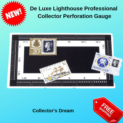 Lighthouse Stamps Perforation Gauge Collector Specs Tool Philatelic Ruler New