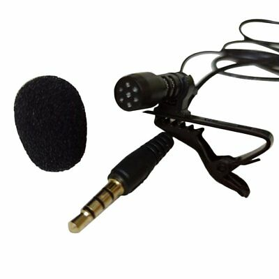Mini 3.5mm Microphone Lapel Lavalier Clip Mic for Lecture Teaching ConferenceDV