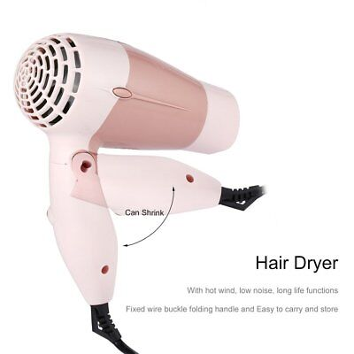 Mini Portable Foldable Handle 1000W Hair Dryer Blow Dryer Hot Wind Low Noise  SU