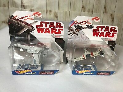 hot wheels star wars starships-poes ski speeder-resistance bomber ** lot of 2 **