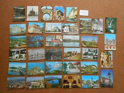 35 various countries incl. Eastern European postcards. Bulk / job lot. L 57.