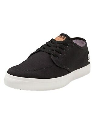 e813c1410d125f Timberland Union Wharf Derby Mens Canvas Trainers Shoes Lace Up Plimsolls  Black