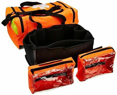 PrimaCare First Responder Trauma Medical Triage Bag Case Orange EMT Paramedic