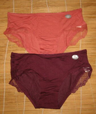 b9cecefd4b87 2 Gap Body Panties Ultra Low Rise Hipster Modal Vintage Extra Small XS