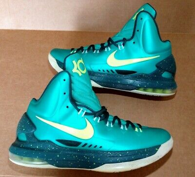 970e4d0030b NIKE ZOOM KD 5 Hulk Atomic Teal Volt 554988-300 Basketball Men s ...