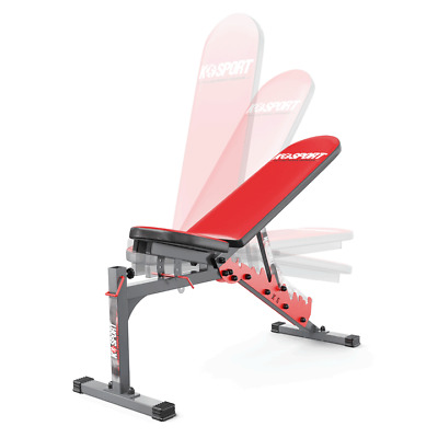 Weight Bench Barbell Dumbbell Lifting Press Abs Fitness Max Cap300KG KSPORT