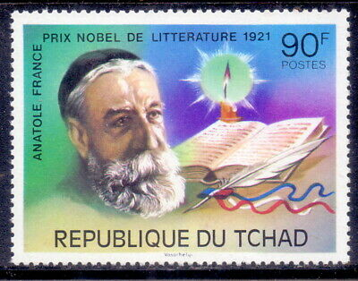 Chad Stamp Anatole France  Nobel Prize in Literature  Mnh (81)