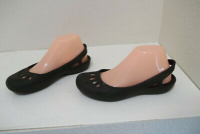 f10716ae939 WOMEN S CROCS KADEE Black Slingback Ballet Flats Slip On Shoes sz 9 ...