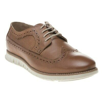 New Mens Lotus Tan Connor Leather Shoes Brogue Lace Up