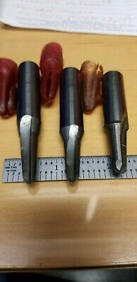 """1/2"""" shank carbide tapered endmills, 3pcs, lot, reground, 5 degree a side"""