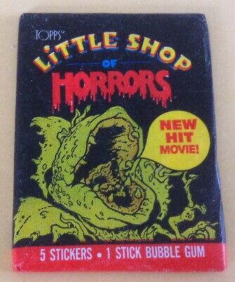 1986 Topps Little Shop Of Horrors Trading Cards Wax Pack
