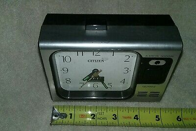 Vintage Working Citizen Quartz Travel Clock Glow in Dark Hands Battery operated
