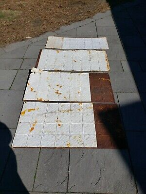 Lot Of 4 Antique Architectural Salvage Pressed Tin Molding sheets