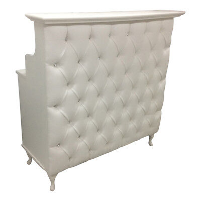 Reception Desk with padded front - Shabby chic - Salon Counter Retail Cash desk