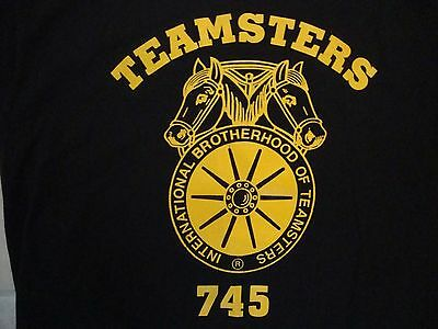 VINTAGE TEAMSTERS WORKERS Union 745 A Womans Place Is In Her Union T Shirt L