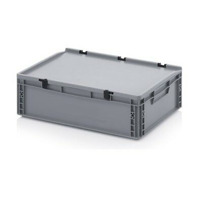 Transport Containers 60x40x18, 5 with Lid Plastic Transport Case Box 600x400x185