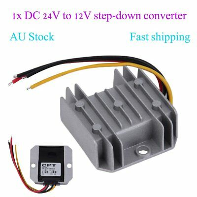 Waterproof DC/DC Voltage Converter 24V Step Down to 12V 5A Adaptor HU