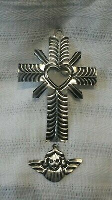 Mexican tin decoration cross