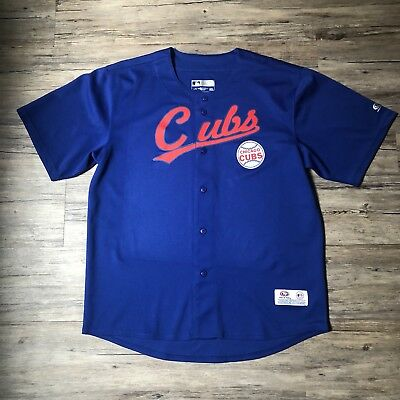 fe00dc57 True Fan Chicago Cubs Jersey Shirt Red Blue White sz L Large Bryant Rizzo  Baez