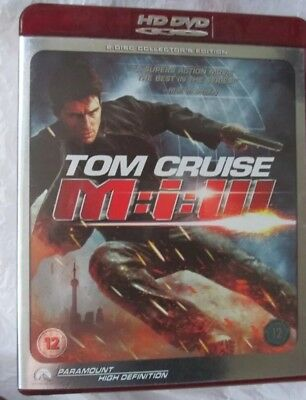 Mission Impossible 3 HD DVD 2006 2 Disc Set Tom Cruise Action Movie Film