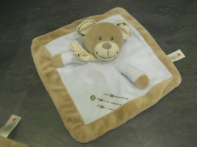 3955 Security blanket Doudou ours écru beige NICOTOY