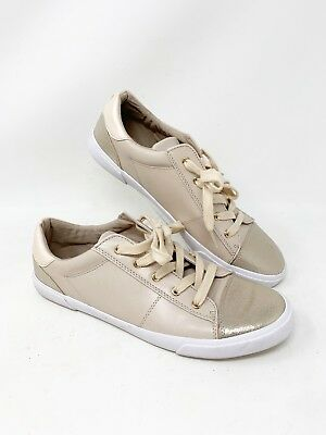 762db099625c Unisa Womens Size 10 M Sneakers Metallic Shoes Glitter Gold Lace Up Beige