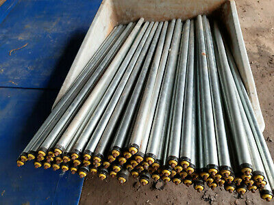 50mm DIA CONVEYOR ROLLERS INTERROLL LINE SHAFT 830x 610mm LONG NEW FREE UK POST
