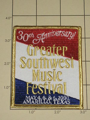 30th Anniv. Greater Southwest Music Festival Patch 2000