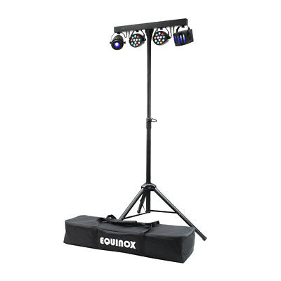 Equinox Microbar Multi System FX & Wash Package Band DJ Lighting T-Bar System