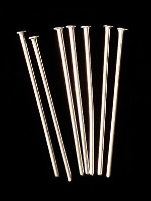 Head Pins 25mm Long Silver Plated Wholesale Lot of 1000+  110 grams Jewelry Pins