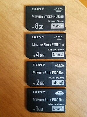 Sony Memory Stick MS Pro Duo Memory Card Lot for Sony PSP & Cybershot 8,4,2,1GB!