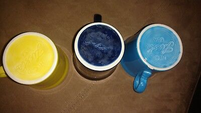 Fiesta Fiestaware Dinnerware Lot of 3 coffee mugs cups  Mixed Color Set