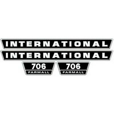 New 706 International Harvester Farmall Tractor Hood Decal Kit Quality Vinyl