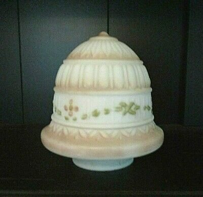 """ANTIQUE 1930's  SATIN  GLASS  Pink  FROSTED  LAMP  GLOBE  SHADE  3 1/8""""  FITTER"""